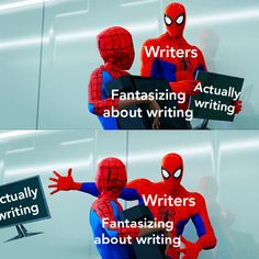Marvel memes are hot af and you know it! Writer Memes, Book Memes, Ladybug And Cat Noir, Miraclous Ladybug, Stupid Funny, Haha Funny, Funny Stuff, Hilarious, Writing Problems