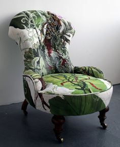 I'm in awe over these chairs, the fabric is just beautiful. Sadly these chairs are marked sold on Timorous Beasties website but luckily you can still purchase the fabric. Thier fabric selection is absolutely dreamy, I need all of it in my life.