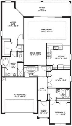 Bonita II floor plan.