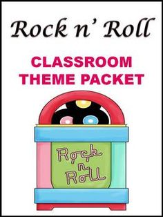 Rock n' Roll Classroom Theme Packet $4.95