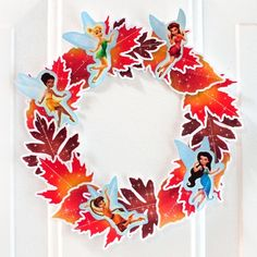 Fairy fall-leaf wreath