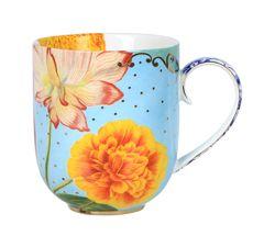PIP Studio Porzellan Großer Kaffeebecher Royal Flowers