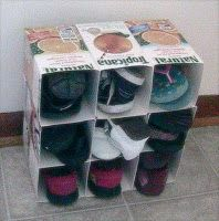 Roots of Simplicity: Upcycled Milk Carton Organizer for Kids' Shoes