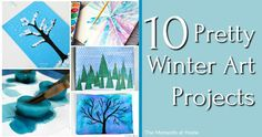 10 winter art projects for kids and their parents. Create pretty winter arts and crafts with this roundup of ten winter projects for kids...