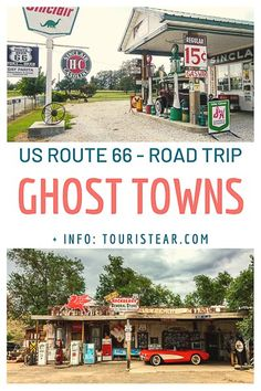 15 Ghost town You have to visit on US Route Best stops on US Route 66 road trip. Route 66 Usa, Old Route 66, Route 66 Road Trip, Travel Route, Us Road Trip, Road Trip Hacks, Travel Usa, Route 66 Oklahoma, Route 66 Arizona
