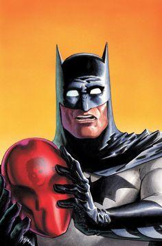 Batman vs Red Hood by Matt Wagner Nightwing, Batgirl, Catwoman, Batman Red Hood, I Am Batman, Dc Comics, Batman Comics, Comic Book Covers, Comic Books Art