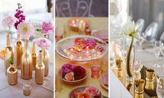 | Decoración de bodas: Arreglos florales para centros de mesa