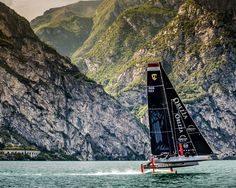 """The """"Malizia"""", an extremely technical and demanding boat that flies above the water. More on  http://www.fay.com/fay-life/projects/race-jacket/"""