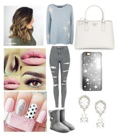 """""""Meredith"""" by ashlynl12323 on Polyvore featuring 360 Sweater, Topshop, UGG Australia, Prada, Rianna Phillips and Dolce&Gabbana"""