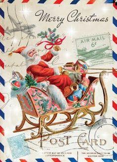 santa postcard