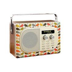 Pure Evoke Mio DAB Radio, Orla Kiely Stem Print Edition