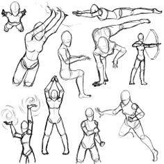 Drawings of Comic Book girl characters