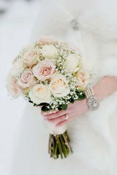 There's no bride without a bouquet! Every wedding theme and style usually supposes that a bride would carry a bouquet, so it's high time to. Perfect Wedding, Dream Wedding, Wedding Day, Ivory Wedding, Destination Wedding, Bride Bouquets, Bridesmaid Bouquets, Bouquet Wedding, Wedding Dresses