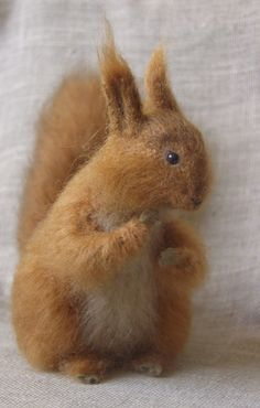 Red felted squirrel