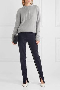 Dion Lee - Cutout Cashmere Hooded Sweater - Light gray - UK
