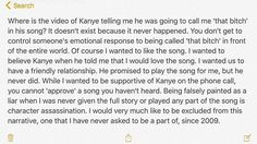 That moment when Kanye West secretly records your phone call, then Kim posts it on the Internet.