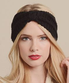 Look at this #zulilyfind! Black Ribbed Bow Headband by Leto Collection #zulilyfinds