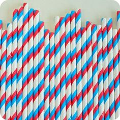 $12.00 Red White & Blue Paper Straws (75)