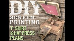 DIY plans instructs you on how to build an affordable 1-color T-shirt Screen Printing Press and/or a Hat Printing Platen.