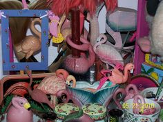 Selections from my flamingo collection.