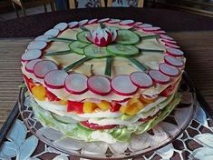 Party – Salattorte Party – salad cake (recipe with picture) of Paradiesabbel Party Salads, Snacks Für Party, Appetizers For Party, Appetizer Recipes, Snack Recipes, Keto Snacks, Shrimp Recipes, Food Cakes, Salad Cake