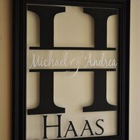 Love this wedding gift idea! But with the date under the H