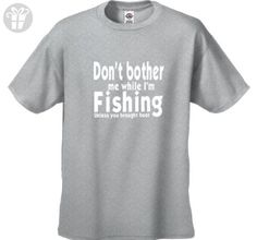 CherryBargains Funny Men's T-Shirt Don't Bother Me While I'm Fishing Gray M - Birthday shirts (*Amazon Partner-Link)