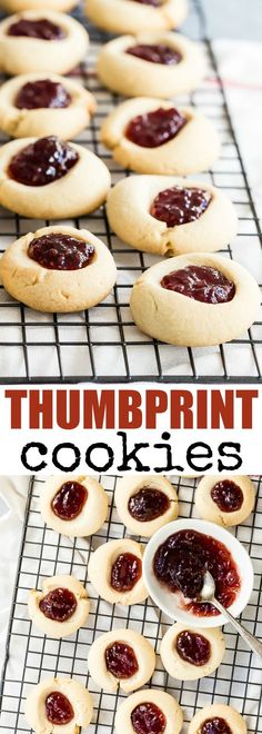 Tender-crisp and buttery, these Thumbprint Cookies can be filled with any jam you love. A class at Christmas, they shine like gems on your cookie plate! via @culinaryhill | Christmas cookies | thumbprint cookies | jam | #Christmascookies #thumbprintcookies #cookies