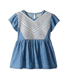 Lucky Brand Kids Flowy Mixer Top in Chambray (Big Kids)