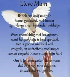 For my loved ones in heaven - Voor mijn dierbaren in de hemel Loosing Someone, Happy Birthday In Heaven, I Miss My Dad, Ill Never Forget You, Loved One In Heaven, Sad Words, Facebook Quotes, Dear Mom, I Love You Forever
