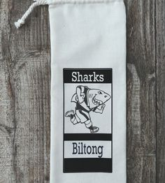 Biltong bags – the perfect gift for a special man. Biltong, Sharks, Gift Bags, Cool Gifts, Rugby, Cool Stuff, Men, Shark, Goody Bags