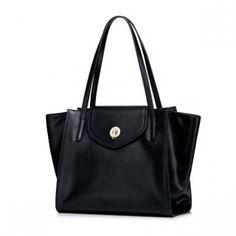 Prosta damska torebka na ramię Czarna
