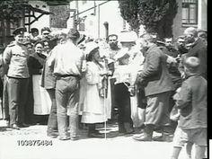 Maria, Anastasia, & Alexei on White Flower Day - Livadia, 1 June 1912  (video)