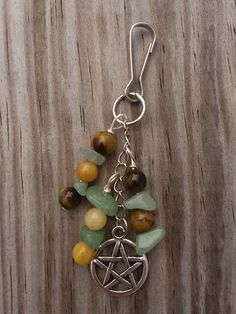 Earth Tones key chain with Tiger's Eye, Green Aventurine and Quartzite $8  https://www.etsy.com/listing/207455983/earth-tones-tigers-eye-green-aventurine?ref=listing-shop-header-3