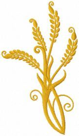 Stems of wheat free machine embroidery design. Machine embroidery design. www.embroideres.com