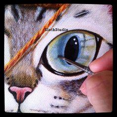 ":""Good Morning!!""  working, working... painting work in progress...  www.facebook.com/SlothStudio"