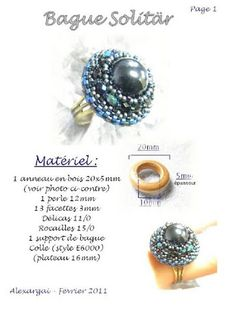 Beaded Rings, Beaded Jewelry, Gemstone Rings, Picasa Web Albums, Diy Rings, Decoration, Diy And Crafts, Stud Earrings, Gemstones