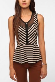 I want this Peplum Top! So cute!