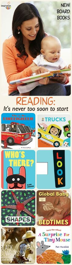 it's never too soon to start reading to kids! New Board Books to Read with Babies and Toddlers.