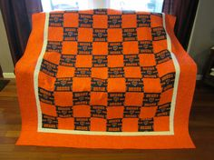 Chicago Bears quilt i designed and made for my brother. | Chicago ... : chicago bears quilt - Adamdwight.com