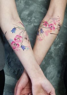 Matching sister tattoos by Simona Blanar pretty tattoos Ultra Pretty Tattoos. - Matching sister tattoos by Simona Blanar pretty tattoos Ultra Pretty Tattoos for Women 2019 – - Creative Tattoos, Great Tattoos, Mini Tattoos, Flower Tattoos, Body Art Tattoos, Small Tattoos, Sleeve Tattoos, Colour Tattoo For Women, Pretty Tattoos For Women