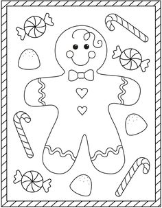 Free Christmas coloring pages – gingerbread man coloring sheets – gingerbread boy Make your world more colorful with free printable coloring pages from italks. Our free coloring pages for adults and kids. Preschool Christmas, Christmas Activities, Christmas Crafts For Kids, Christmas Colors, Christmas Art, Holiday Crafts, Holiday Fun, Vintage Christmas, Christmas Jokes