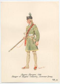 British; Rogers Rangers, Rogers' company, Ranger, Summer Dress, 1758