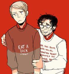 dumb sweater friends by cremena.deviantart.com on @deviantART