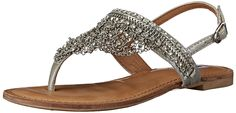 Amazon.com | Not Rated Women's Jewels Dress Sandal, Silver, 6.5 M US | Sandals