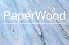 """Como transformar papel velho em """"madeira de papel""""."""