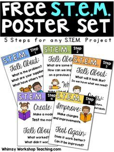 Here's a set of free STEM posters that I use in my classroom to guide students…