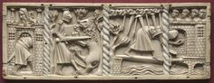 France, Lorraine?, Gothic period, 14th century, ivory, Overall: 9.7 x 25.9 x 0.8 cm (3 13/16 x 10 3/16 x 5/16 in.). John L. Severance Fund 1978.39.c