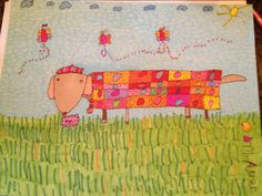 Rosy the Dachshund by Jenny L Unrein, Jenny is a Kansas artist who has Williams Syndrome, a genetic handicap.  Jenny wants to make a difference in this world but making it happier with her artwork.