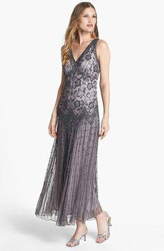 Pisarro Nights Beaded Mesh Dress available at #Nordstrom